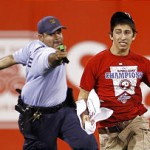 cop tasers kid at Phillies game