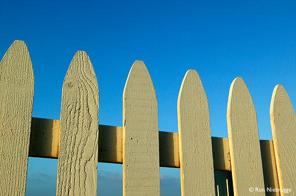 White picket fences