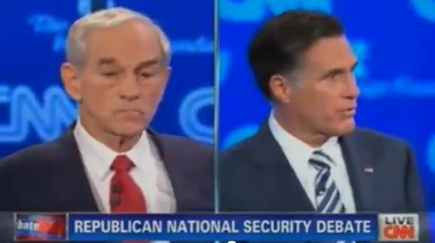 Ron Paul debates Mitt Romney on foreign policy