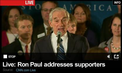 Ron Paul addresses Supporters after Iowa defeat