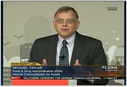 Michael Talyor, former Monsanto lawyer & lobbyist, now FDA Deputy Commissioner for Foods